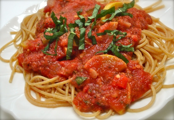 Pasta al Pomodoro with Summer Vegetables