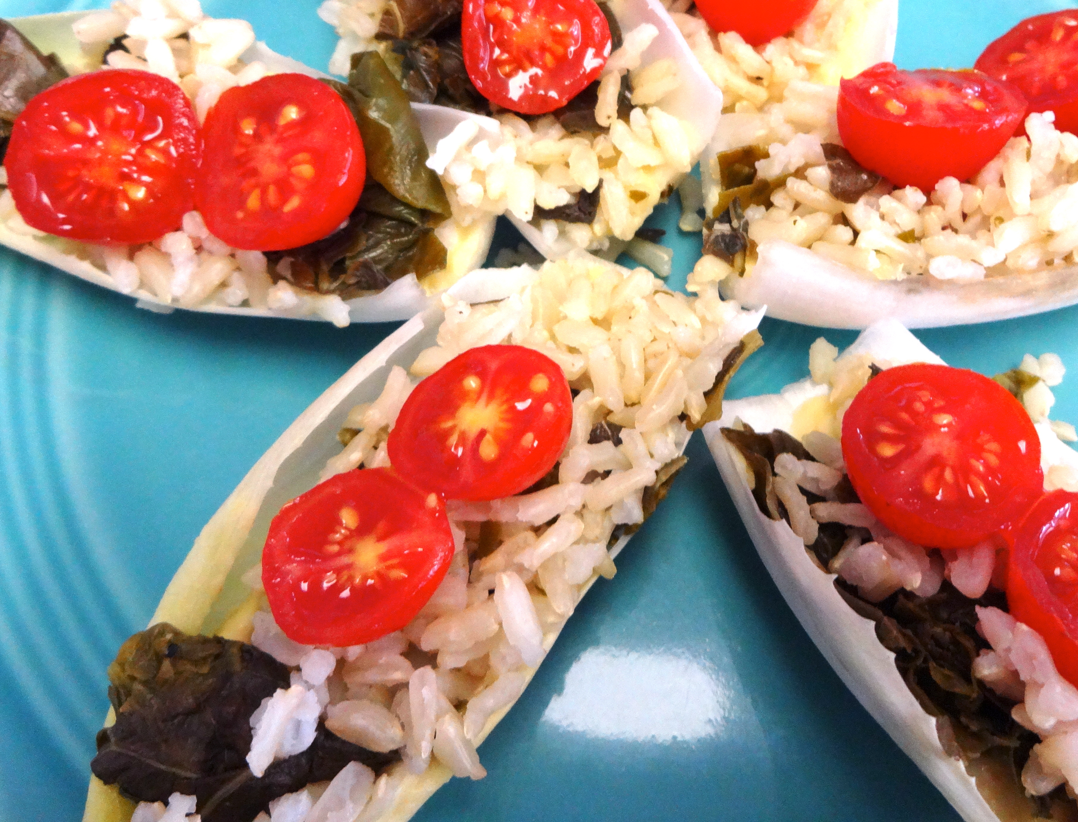 Fresh Endive with Rice andGreens