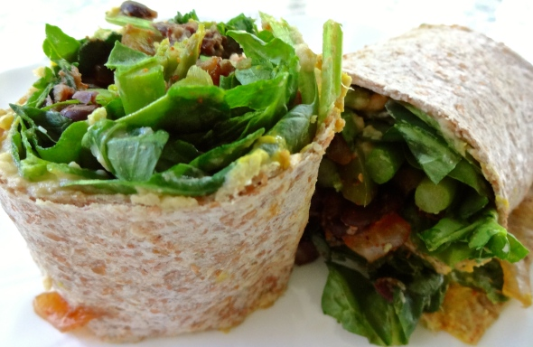 Salad Wraps with Beans and Greens