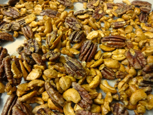 Spicy Cashews and Pecans