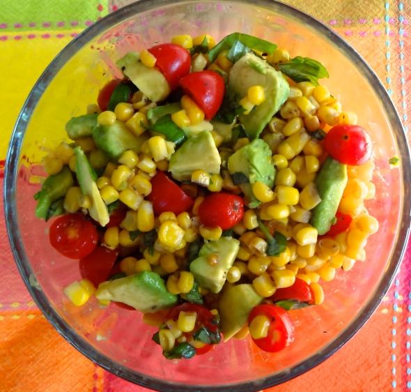 Fresh Corn, Tomato, and AvocadoSalad