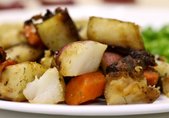Roasted Carrots, Potatoes, and Onions (Oil-Free)