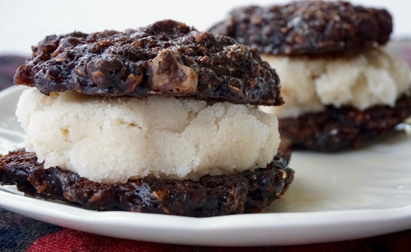 Chocolate Banana Cookie Ice Cream Sandwiches