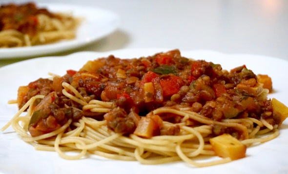 Holiday Lentil Bolognese