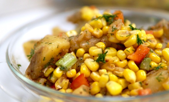 Summer Corn and Potato Salad