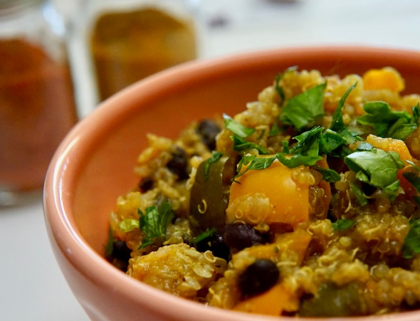 Curried Sweet Potato, Eggplant, and Quinoa Tagine