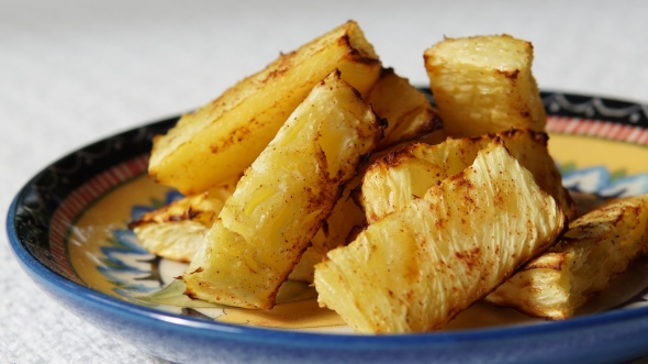 Air-Fried Fresh Pineapple