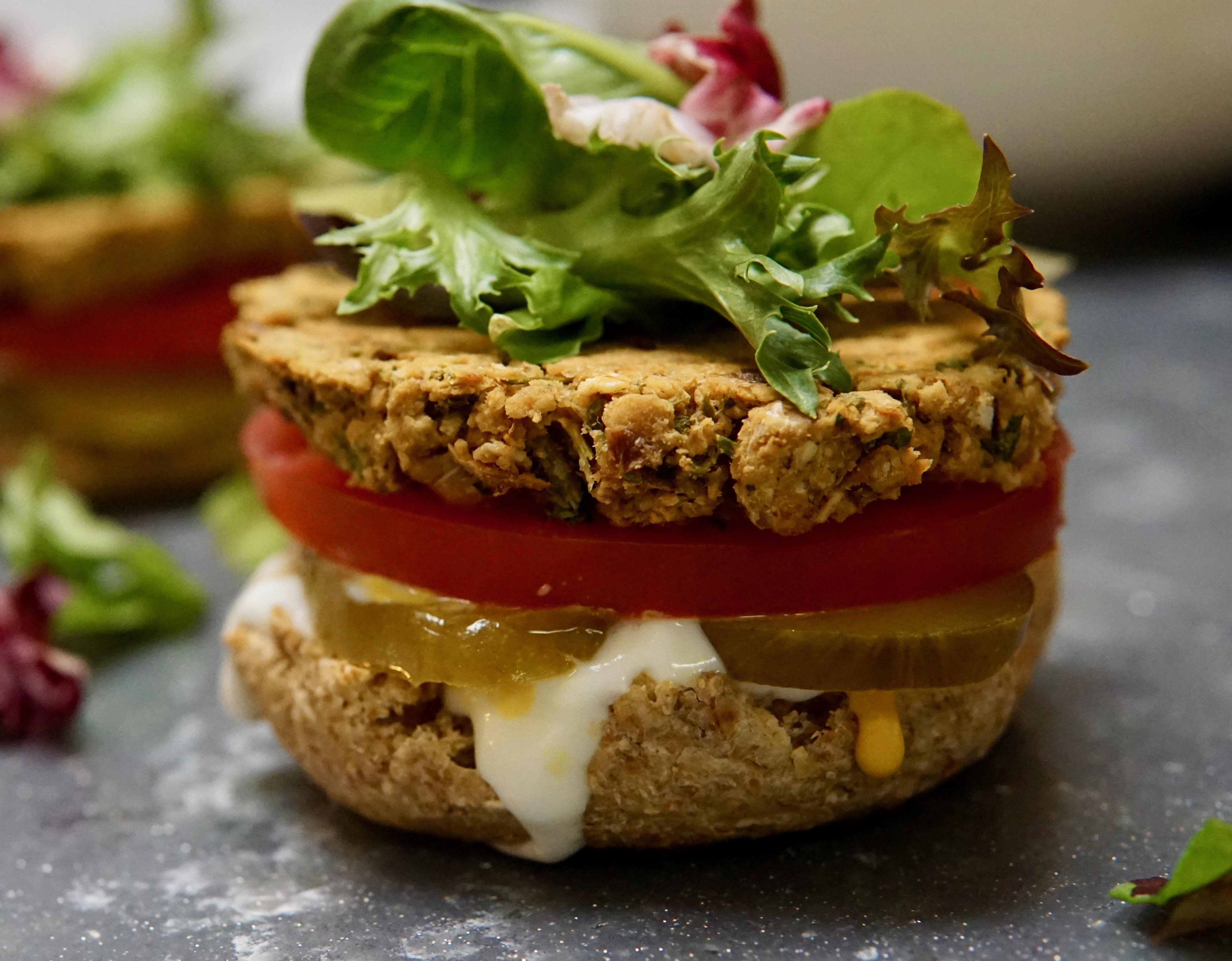 Oven-Baked Falafel Burgers